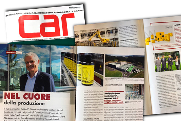 SINNEK es noticia en la revista italiana CAR CARROZZERIA
